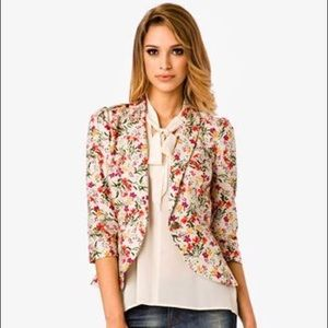 Love 21 Floral Peplum Jacket